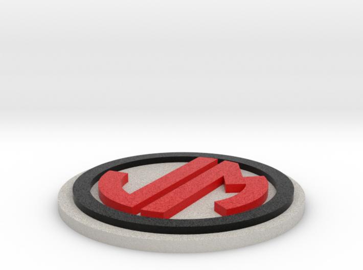 JM Badge Colored 44mm 3d printed