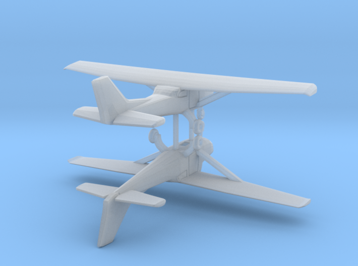 Cessna 172 - Hollow - Set of 2 - Nscale 3d printed
