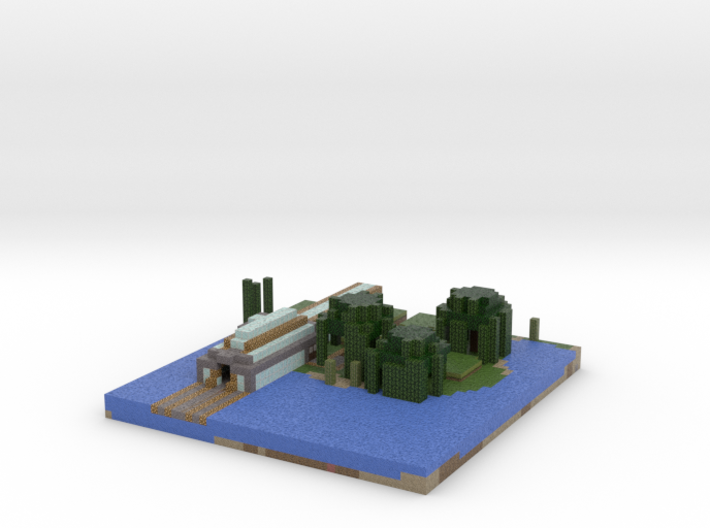 minecart train station 3d printed