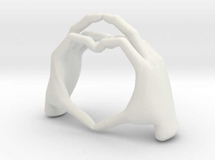 Hand-heart-5.2cm 3d printed
