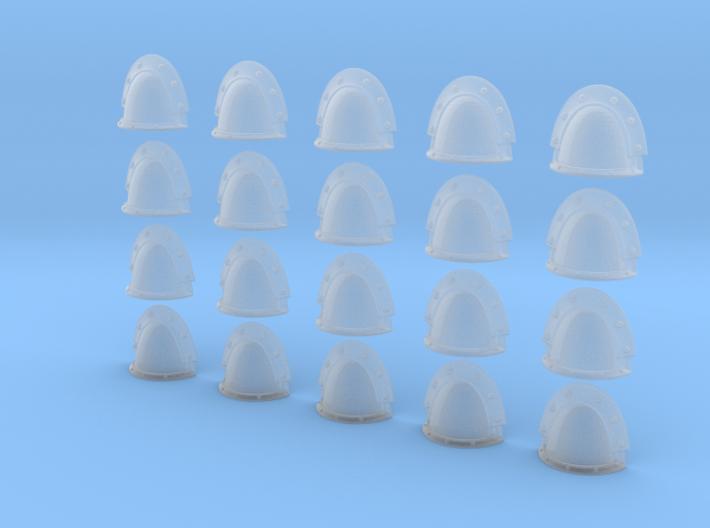 20 Custom Shoulder Pads Blank Rivet Crests 3d printed