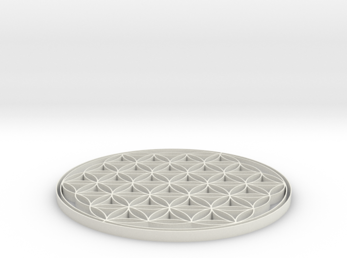 Flower of life coaster 80x3mm 3d printed