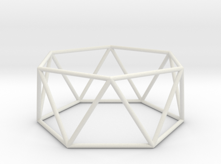 hexagonal antiprism 70mm 3d printed