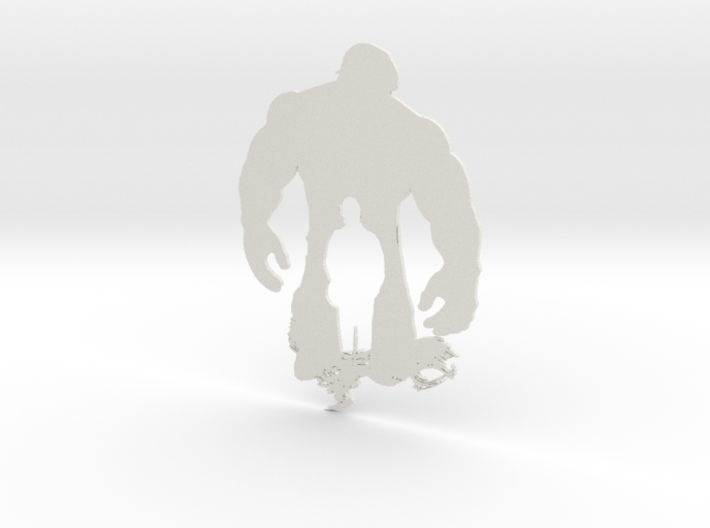 Hulk artwork 3d printed