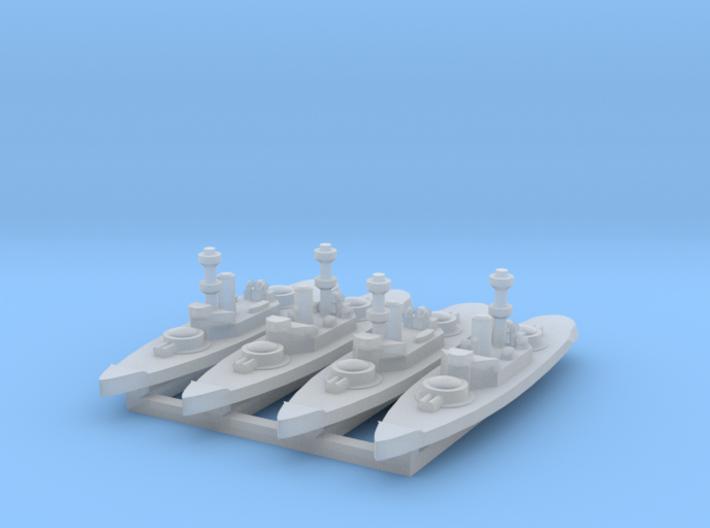Amphitrite 1:3000 x4 3d printed