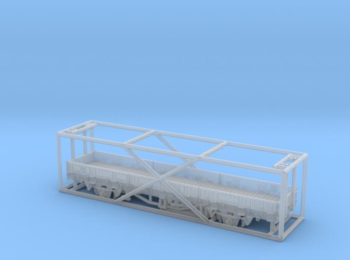 2103 1/160 Fährboot-Rungenwagen Rbmms 55 der DB 3d printed