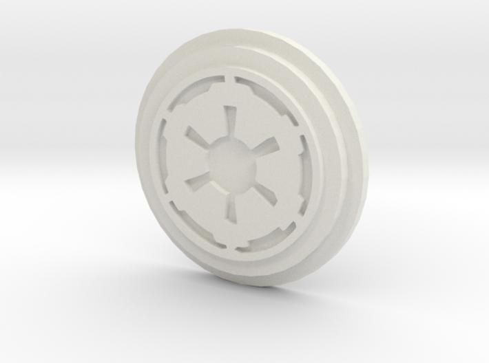 Imperial Logo Pommel Insert 3d printed