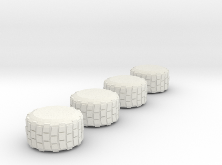 Military Grade Tires 7mm High 3d printed