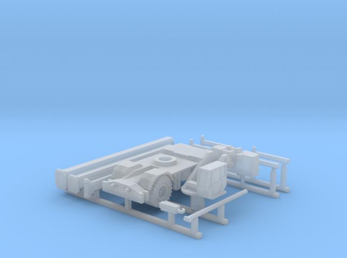 Rough Terrain Crane (Grove RT 800) Z-Scale 1/220 3d printed