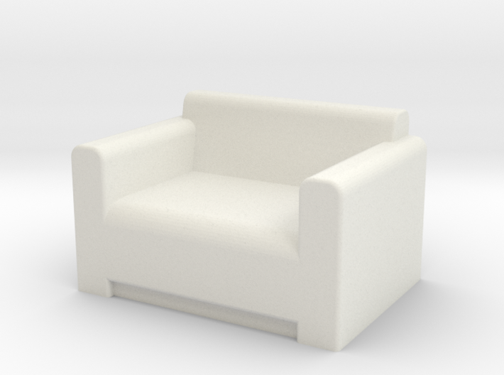 Comfy Chair OO Scale 3d printed