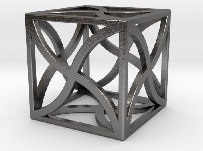 "Cube ""Twirl"" 1""x1""x1"" 3d printed"