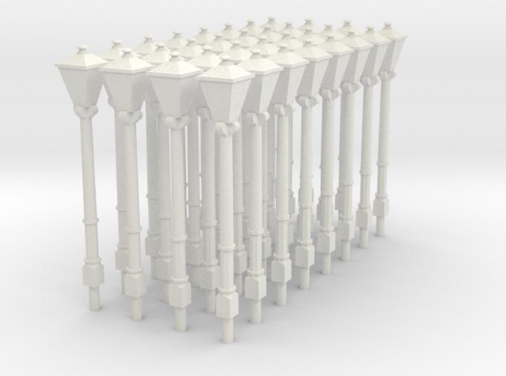2mm scale (N gauge) Gas Lamps x 32 3d printed