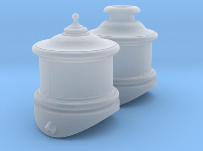 """Cooke Domes HOn3 (48"""" dia boiler) 3d printed"""