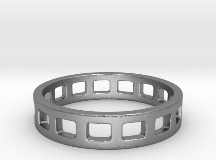 Geometric Rectangles Ring Modern Jewelry 3d printed