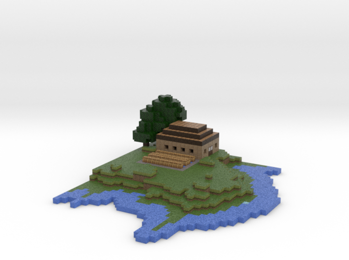 Minecraft Island Final Version 3d printed