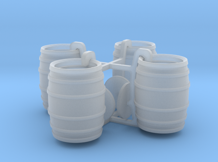 Four Barrels 3d printed