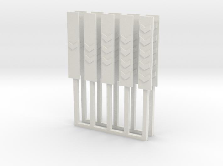 10 balises à chevrons SNCB / NMBS 3d printed