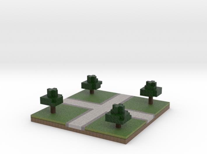 30x30 cross path (trees) (1mm series) 3d printed