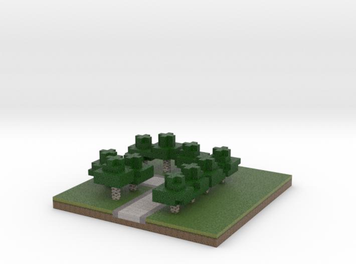 30x30 L path (white trees) (1mm series) 3d printed