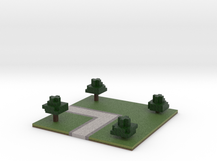 60x60 L path (trees) (2mm series) 3d printed