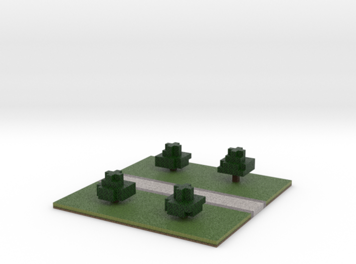 60x60 straight path (trees) (2mm series) 3d printed