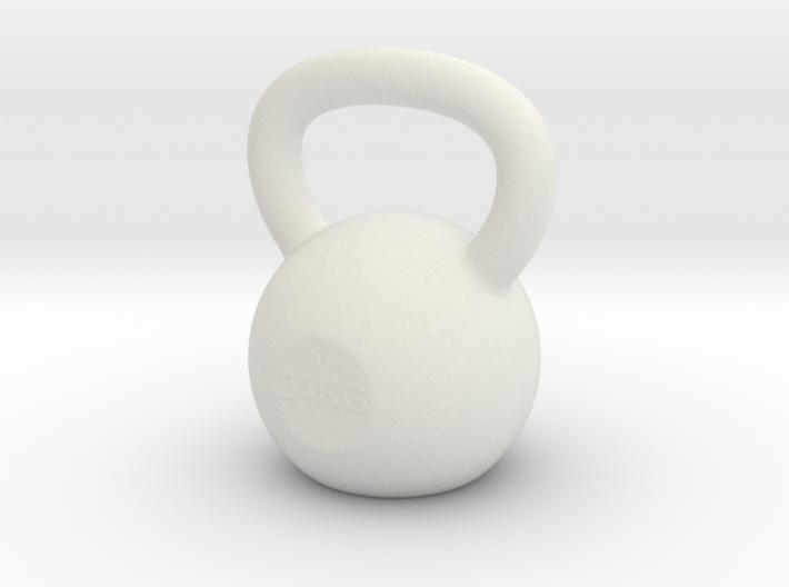 Tiny Kettlebell Pendant 3d printed