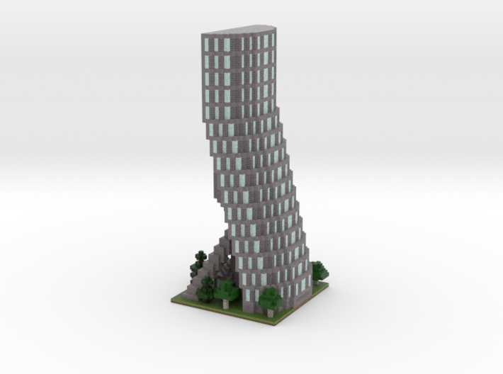 60x60 Tower04 (mix trees) (2mm series)\ 3d printed