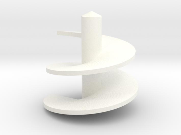 1/64 Verticle Mixer Screw 3d printed