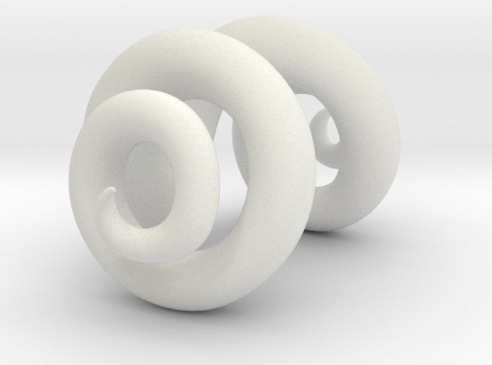 Ram horns half size 3d printed