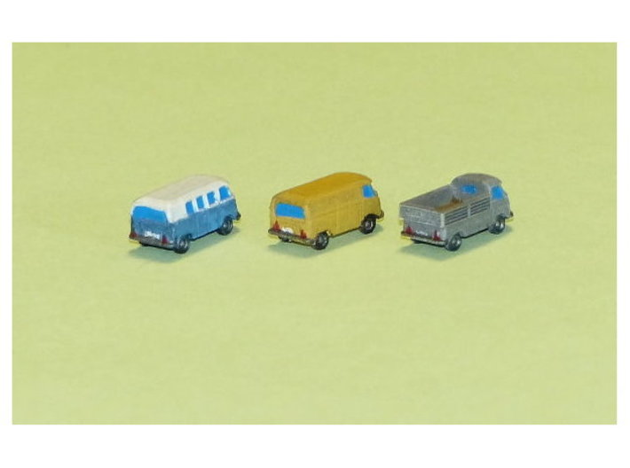 VW Transporter Type 1 Z-Scale 1/220 3d printed 1/285 Models