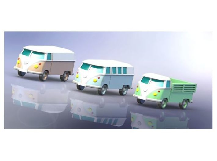 VW Transporter Type 1 Z-Scale 1/220 3d printed Add a caption...