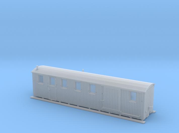 Komb. Personen und Gepäckwagen der MPSB (1:160) 3d printed