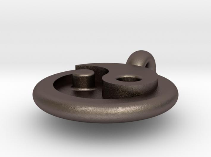 ying yang pendant 3d printed