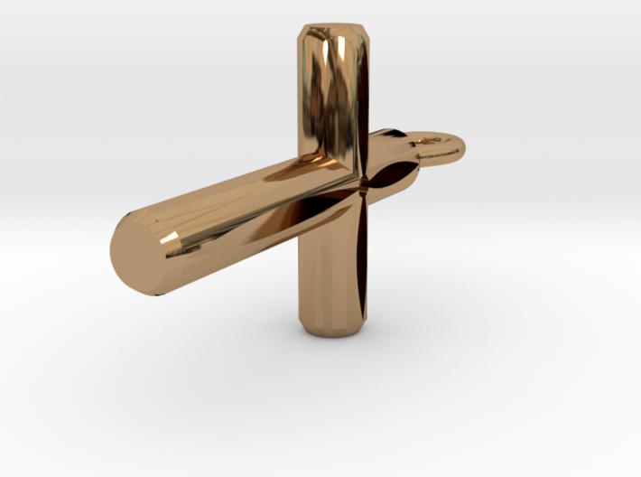 Cutout Cylinder Cross Pendant 3d printed