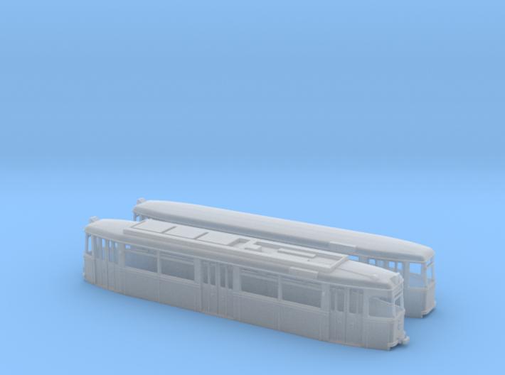 Gotha Großraumzug TW/BW-62 (1:160) 3d printed