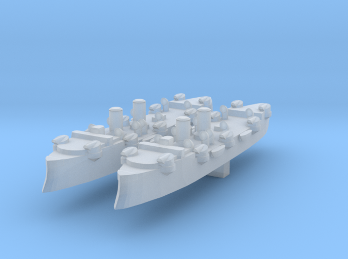 USS Baltimore (C-3) 1:6000 x2 3d printed