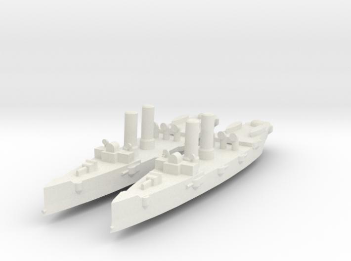 USS Montgomery (1890) 1:1800 x2 3d printed