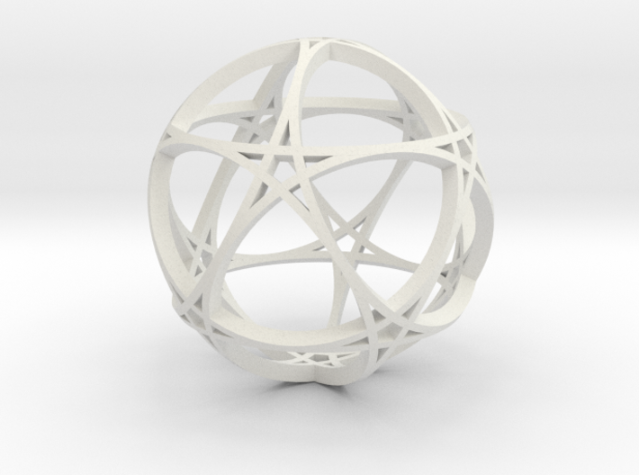 Pentagram Dodecahedron 1 (narrow, small) 3d printed