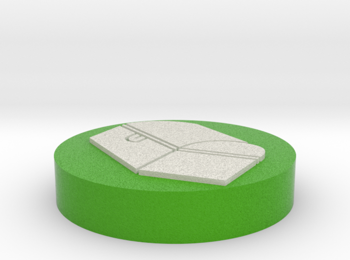 """Circle Token - 1"""" Chest 3d printed"""