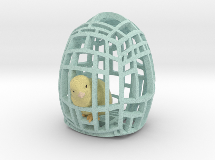 The Easter Chick - a - Dee (Baby Blue) 3d printed