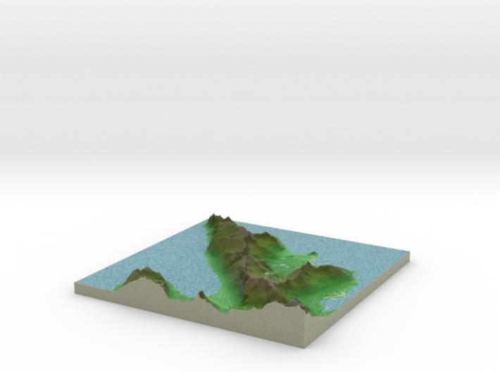 Terrafab generated model Mon Apr 07 2014 22:18:48 3d printed