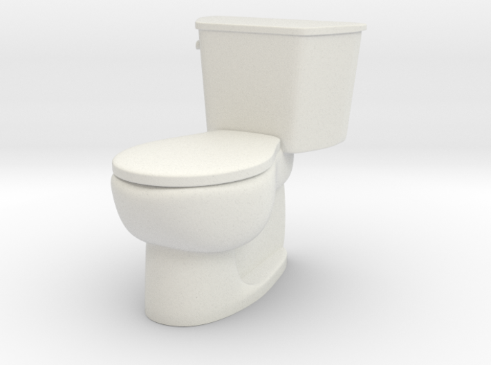 1:24 Tank Toilet (Not Full Size) 3d printed