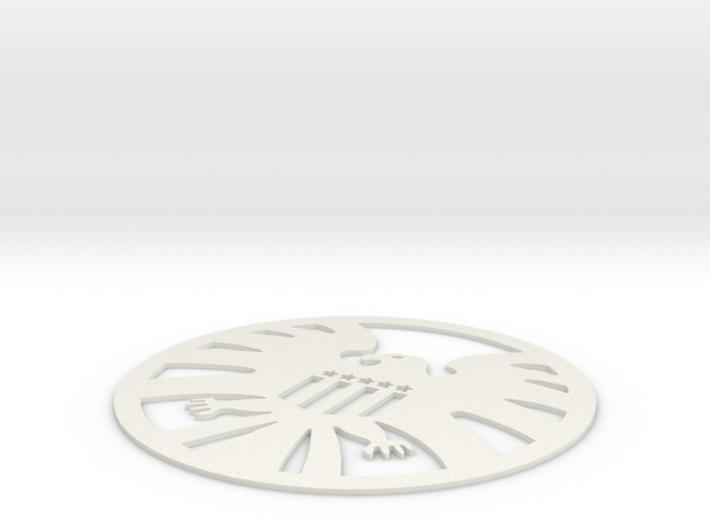 S.H.I.E.L.D. Logo Coaster 3d printed