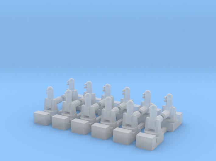 1/700 Phalanx CIWS (x12) 3d printed