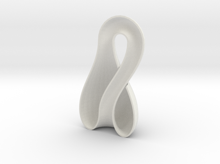 Left-Hand Half Klein Bottle 9.85 in tall 3d printed