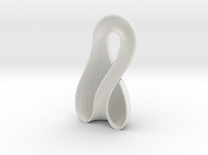 Left-Hand Half Klein Bottle 9.85 in tall 3d printed