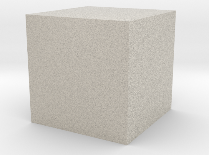 1cm Solid Cube 3d printed
