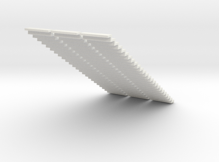 1200 Wide Stair 4mm Scale X 3 3d printed