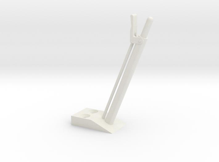 quarter scale aec handbrake lever 3d printed
