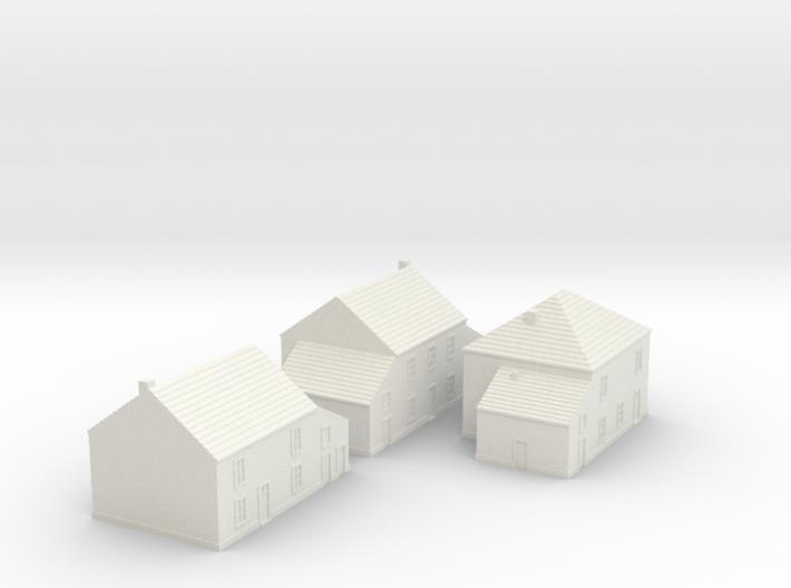 1/350 Village Houses 1 3d printed